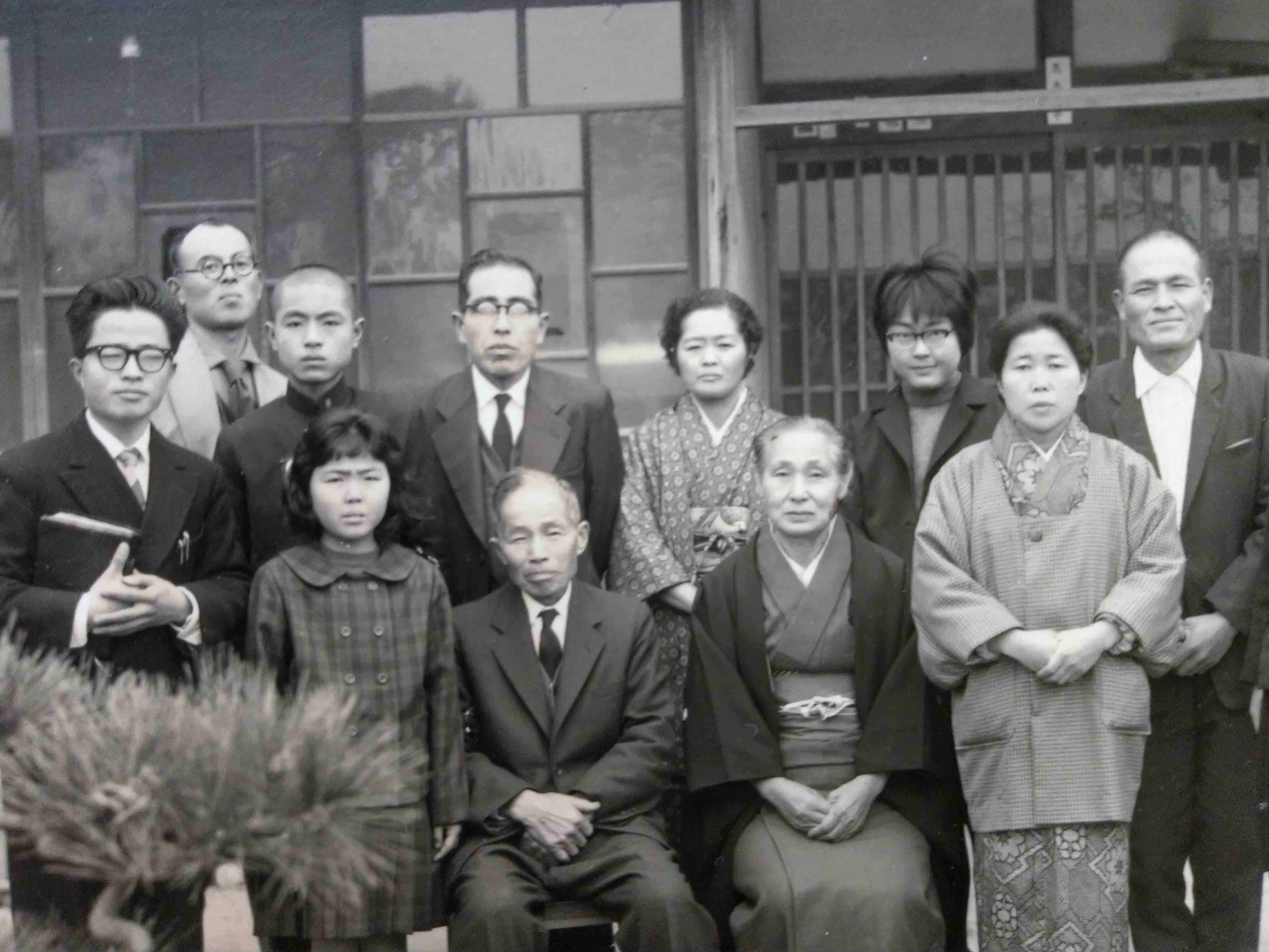 Mitsuharu and Fusae Suzuki, right, with other Seventh-day Adventist church members in an undated photo. (Photo courtesy of Akeri Suzuki)