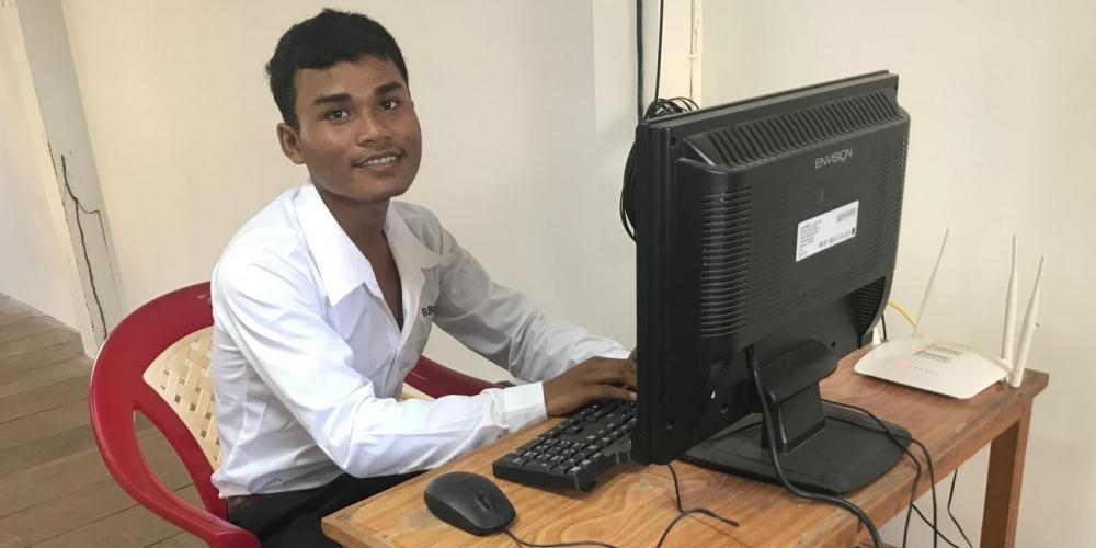 "When the offering bucket came around on Sabbath, Yin ""Pheara"" Sopheara, pictured, dropped in 1,000 Cambodian riel (25 U.S. cents) — all the money that he had in the world. (Andrew McChesney / Adventist Mission)"