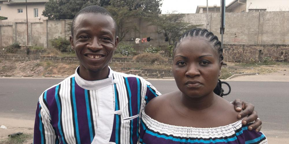 "Franck Mbunga Mudibu and his wife, Nicky. Franck says, ""If my wife had gone somewhere else, she might have died. God saved her as the staff prayed."" (Andrew McChesney / Adventist Mission)"