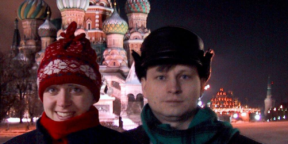 U.S. missionaries Becky and Jeff Scoggins posing for a family snapshot on Red Square in Moscow while serving from 1999 to 2002 in Russia. Jeff Scoggins. currently planning director for Adventist Mission at the General Conference, is excited about a new program that could fundamentally shift the church's missionary work to reach many more people in places that are unreached or under-reached by the gospel. (Family Photo)